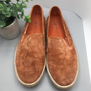 Hugo Boss orange suede slip on / loafers size 43